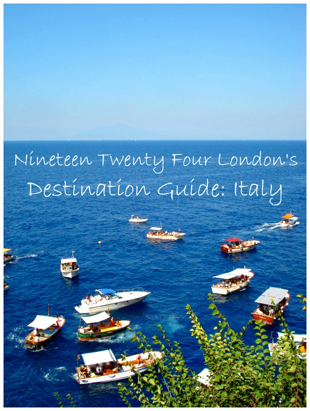 Destination Guide: Italy | 1924 London