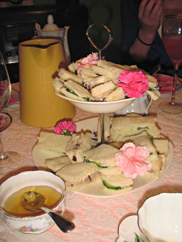 The perfect tea party recipes: cucumber tea sandwiches and the best chicken salad recipe ever!!