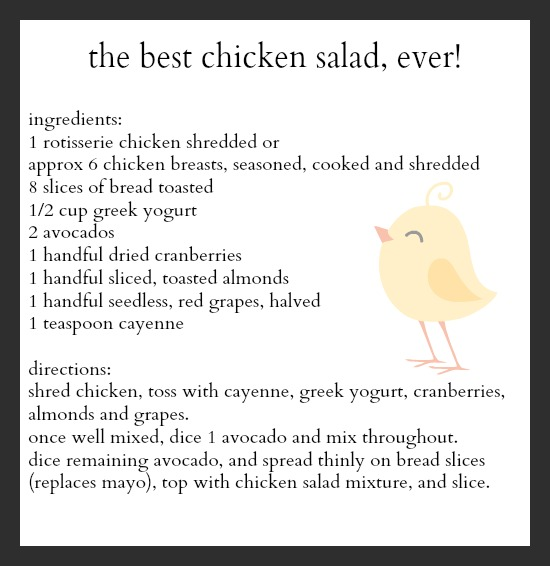 the best chicken and avocado salad recipe
