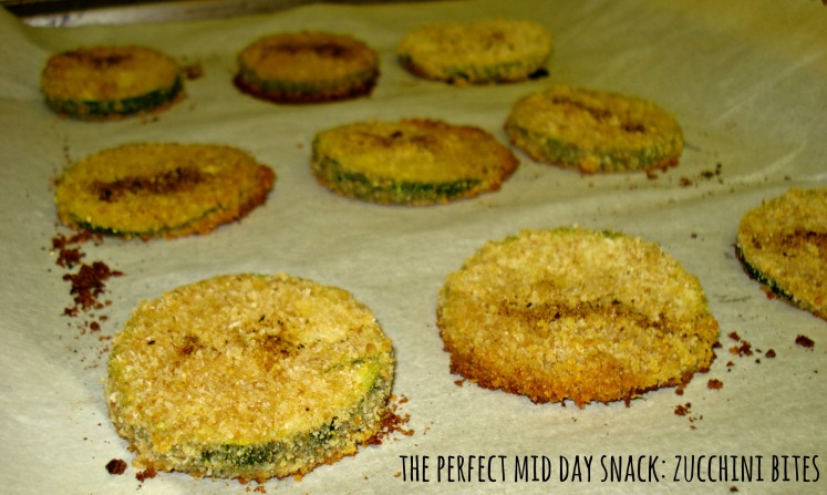 The perfect mid day snack: zucchini bites
