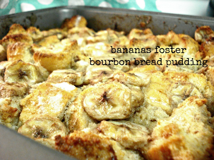 Bananas Foster Bourbon Bread Pudding