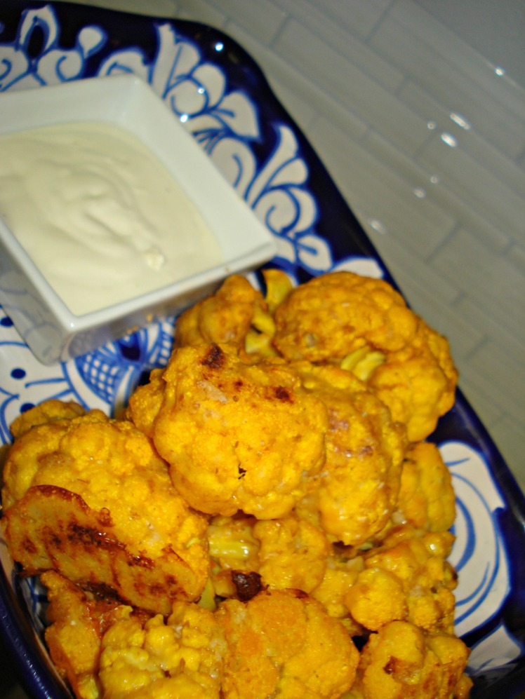 Cauliflower Wings with Blue Cheese Dip | 1924 London