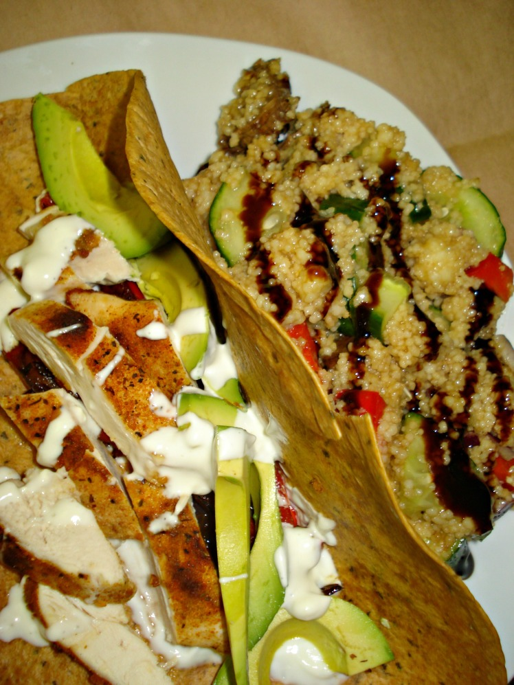 Smokey Roasted Chicken Tacos with Spicy Blue Cheese Sauce
