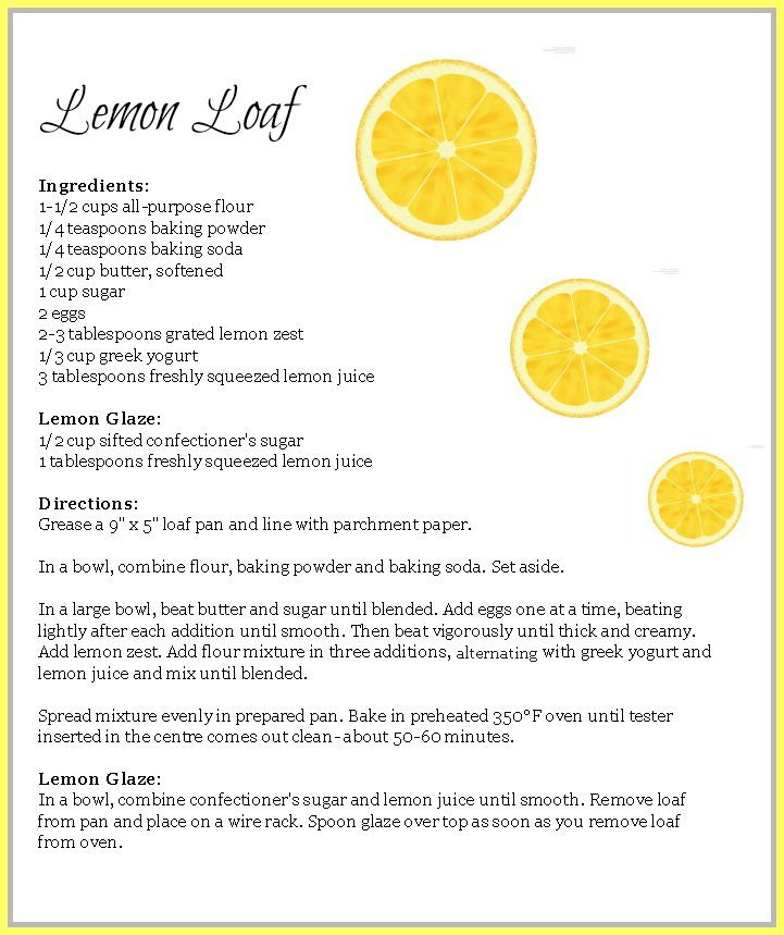 Lemon Loaf Recipe | 1924 London