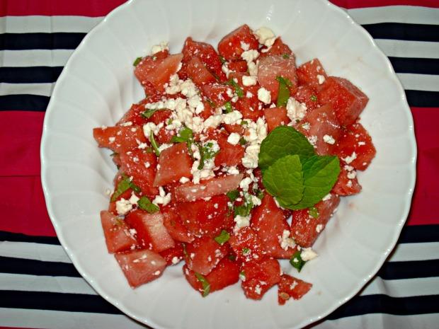 Watermelon Feta & Mint Salad  | 1924 London