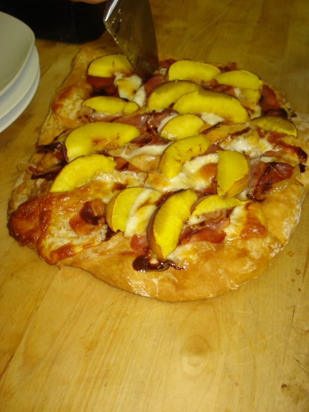 Grilled Peach & Prosciutto Pizza  | 1924 London