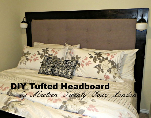 DIY Tufted Headboard  | 1924 London