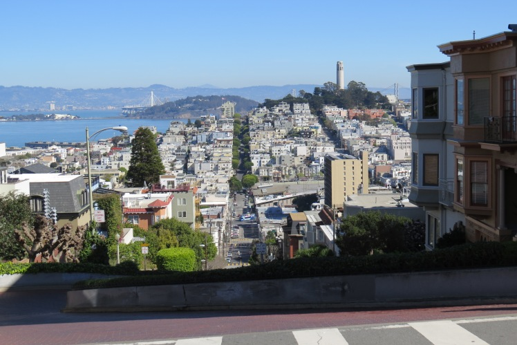 View from the top of Lombard Street  | San Francisco