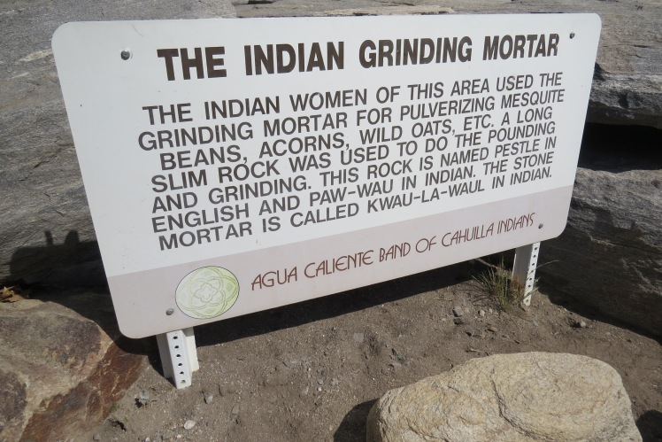 The Indian Grinding Mortar at Indian Canyons, Palm Springs