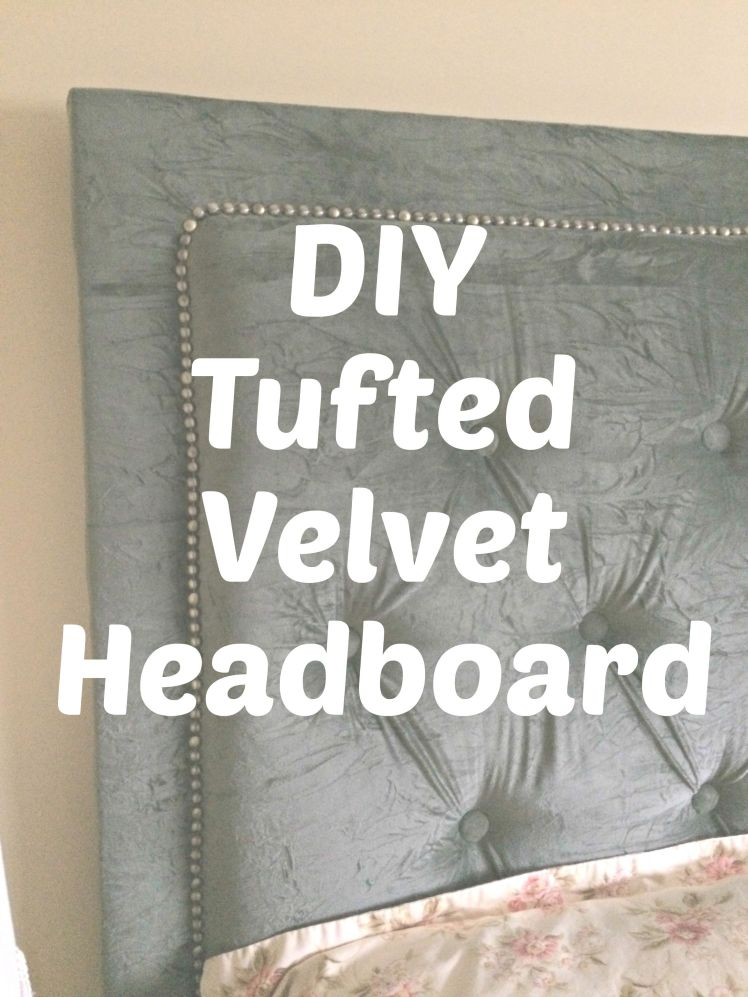 How to quickly + easily make a STUNNING tufted headboard!