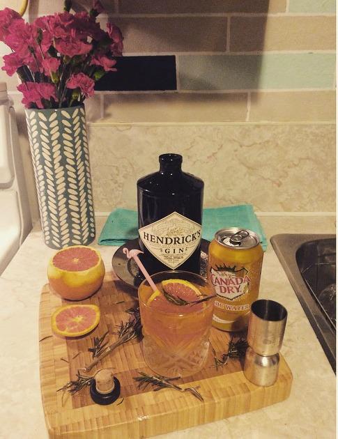 Orange Rosemary Gin & Tonic