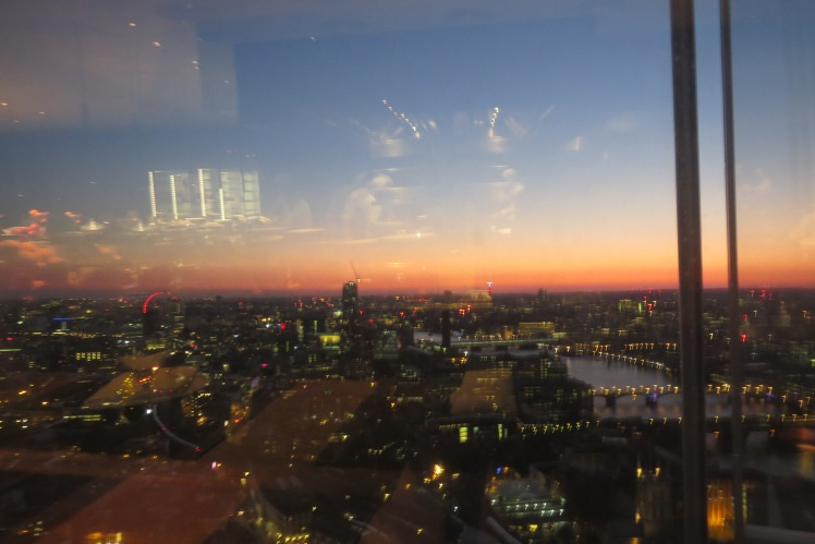 Sunset over London from The Shard