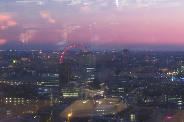 View of the london Eye from the Shard