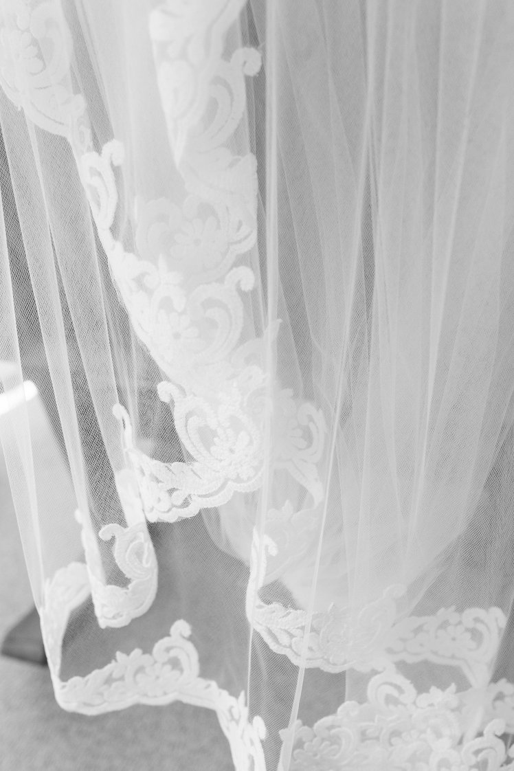 Wedding veil to match lace on dress