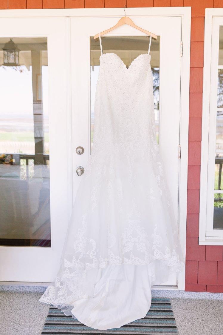 Strapless Kenneth Winston Wedding Gown