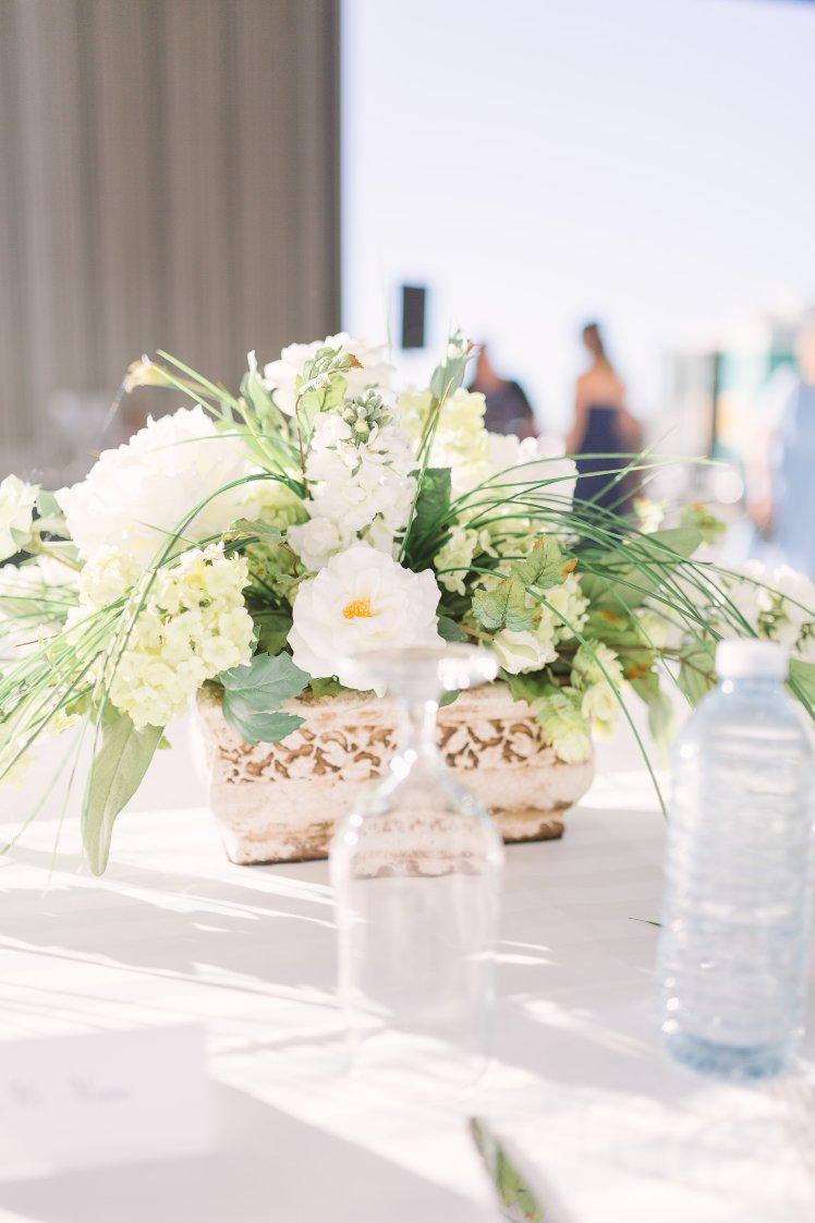 Head table floral arrangements